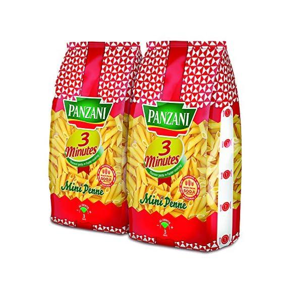 PANZANI 3 Minutes Mini Penne Pasta, 2 x 400 g (Pack of 2)