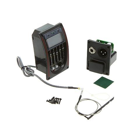 Andoer Tomorrowtop - Ecualizador para guitarra acústica (5 bandas, pantalla LCD)