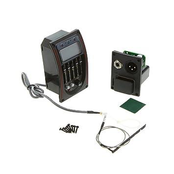 Andoer Tomorrowtop - Ecualizador para guitarra acústica (5 bandas, pantalla LCD): Amazon.es: Instrumentos musicales