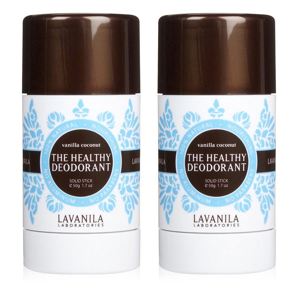 Lavanila Natural Aluminum-Free Deodorant. The Healthy Deodorant Vanilla Coconut Scent (Pack of 2)