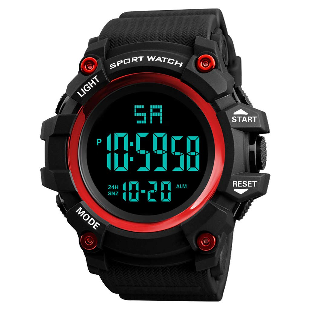 ✍✍Ratoop✍✍Luxury Men Analog Digital Outdoor Watch Military Sport LED Waterproof Watch