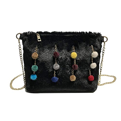 e13f1abc5329 ♛HYIRI Women's Hot Style Small Package Hairy Envelope Bag Chain ...