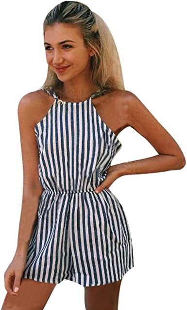 Fubotevic Womens Basic Pockets Shoulder Off Ruffle Tie Club Romper Jumpsuits