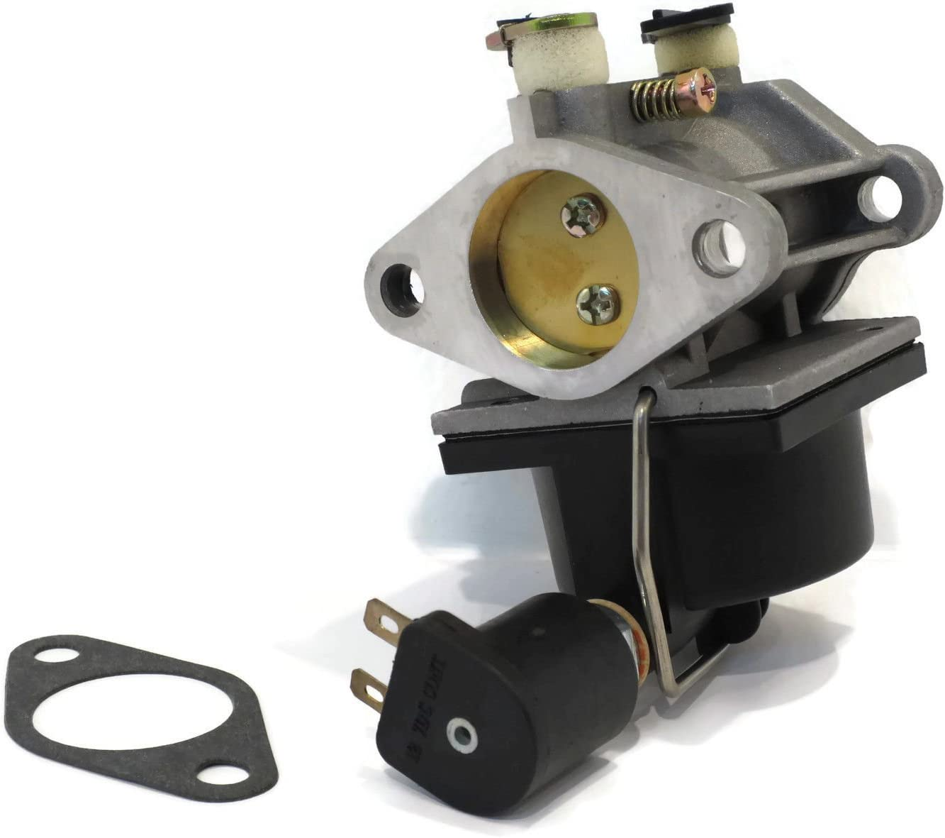 HIFROM(TM) Replace New Carburetor Carb w/Fuel Solenoid & Gasket for Tecumseh OHV14 OHV15 OHV16 OHV17 OV495EA 640330 640034 640072A 640159