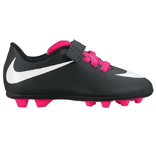 finest selection 8aadb 5469a Nike Unisex Bambino Jr Bravata (V) fg-r Scarpe da Calcio, Nero (Black White Pink),  29.5 EU  Amazon.it  Scarpe e borse