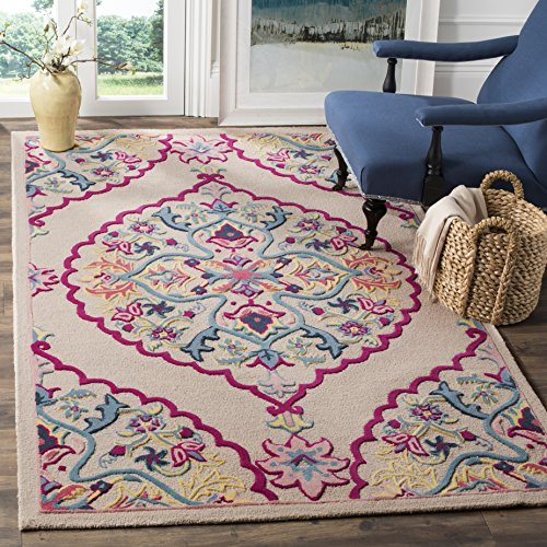 Safavieh Bellagio Collection BLG605E Light Pink and Multicolored Area Rug (4' x 6')