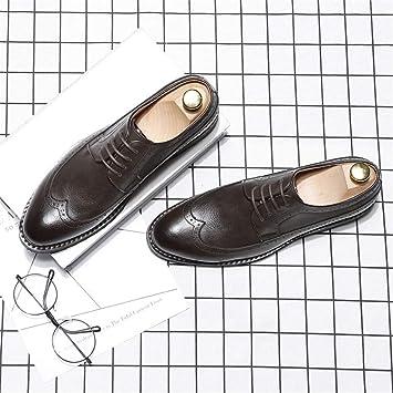 Dundun-shoes Oxford Hombre 2018, Zapatos Oxford de Moda para Hombre, Tallas clásicas Casuales, Respira, Estilo británico, Suela Exterior, Zapatos Brogue ...