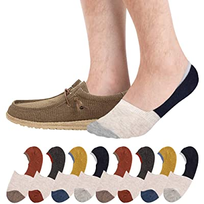 No Show Socks 8 Pack Thin Non Slip Low Cut Sock for Men and Women 6-9 at Women's Clothing store