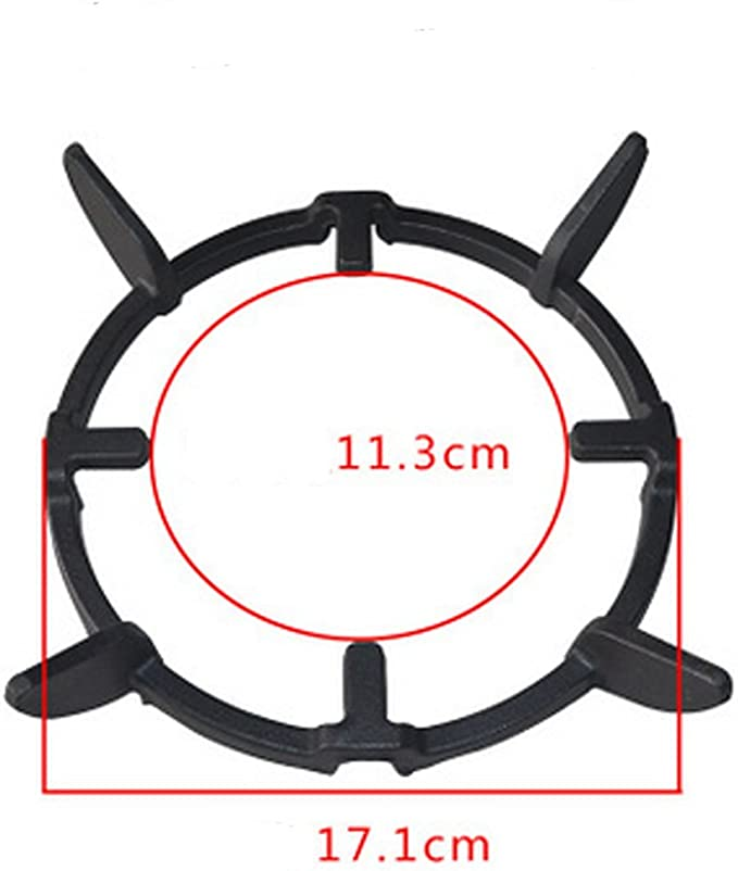 1x Cast Iron Wok Pan Support Rack Stand For Burners Gas Hobs//Cookers Black#