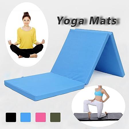 Estera de Yoga, Plegable Tres Secciones Yoga Mat Platos ...