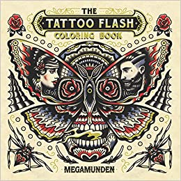 amazoncom the tattoo flash coloring book 9781780679174 megamunden books - Tattoo Coloring Books