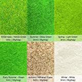 MAY.T 6 Packs of 3MM 50g Model Static Grass