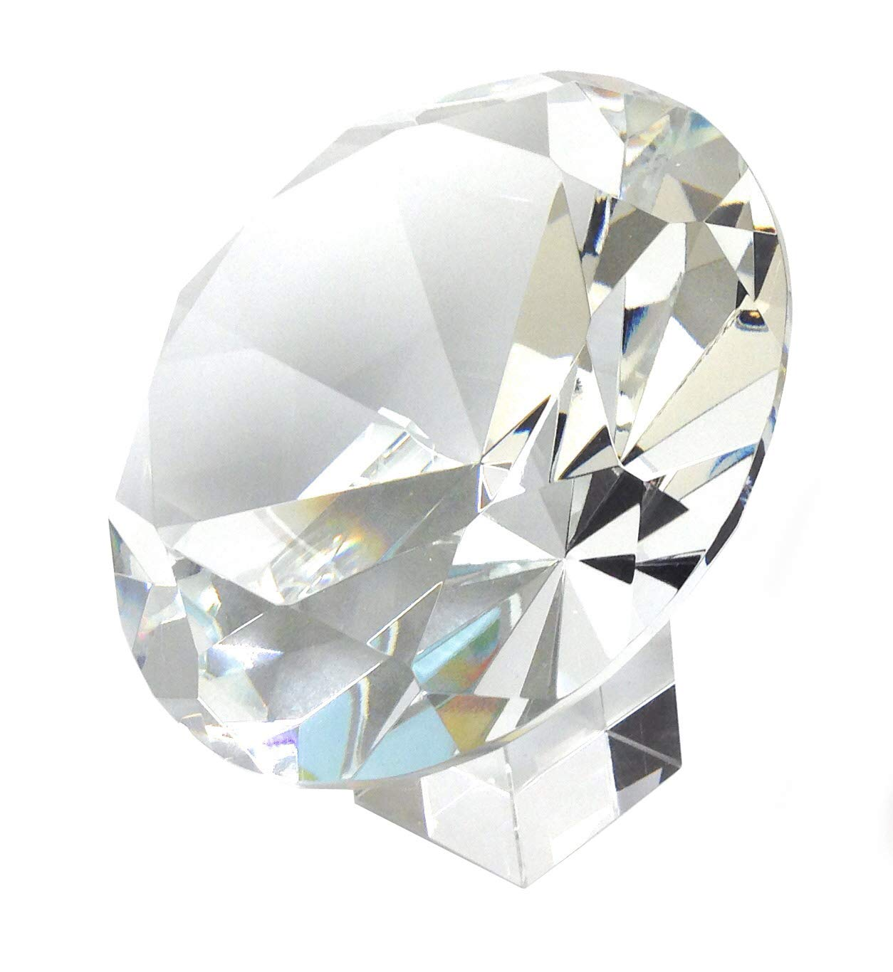 Amlong Crystal 120mm 5 inch Crystal Diamond Jewel Paperweight with Gift Box by Amlong Crystal