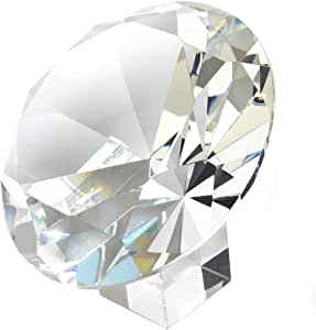 Amlong Crystal 120mm 5 inch Crystal Diamond Jewel Paperweight with Gift Box