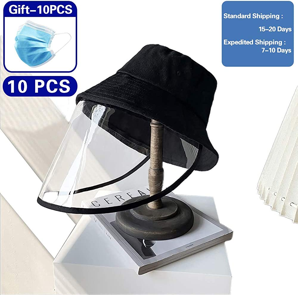 Full-face Protective Cap for Men and Women Black TADAAO Removable Anti Fog Anti Dust Anti-Spitting Protection Hat Fisherman Hat Unisex Protective Hat Cover with UV Protection