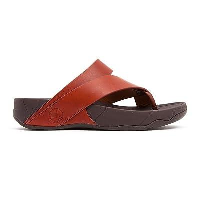 962612e7b97163 Fitflop Mens Sandals Sling M Leather Dark Tan Dark Tan UK12  Amazon ...