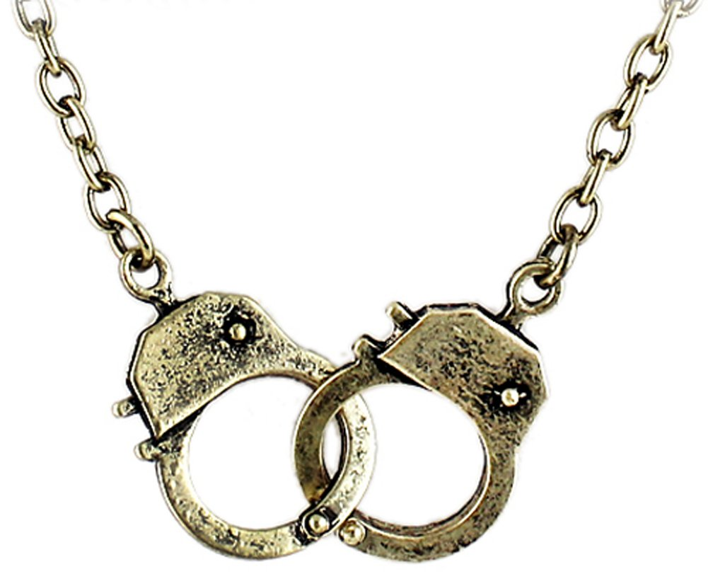 SaySure - Vintage Style Bronze Color Buckle Punk Lock Pendant Necklace