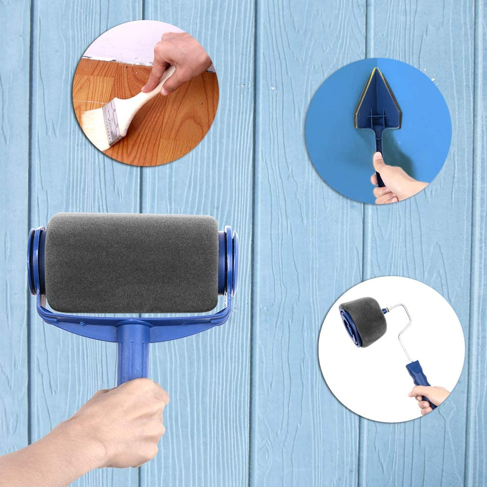 Costura con Manija Extensible Multifunci/ón Profesional Kit para Pintar para en Hogar y Oficina Kit de Rodillos de Pintura 11pcs