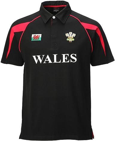 Manav (UK) Poly Estilo algodón Camiseta de Rugby Negro Negro XXXL: Amazon.es: Ropa y accesorios