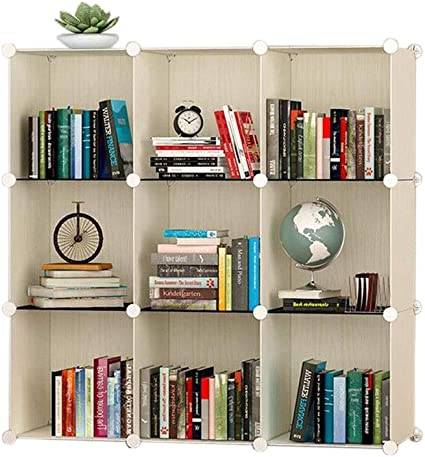 Jcnfa-Estante Estante para Libros Mueble Armario A Cuadros ...