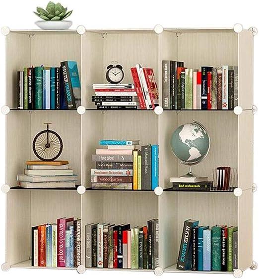 Jcnfa-Estante Estante para Libros Mueble Armario A Cuadros Caja De ...