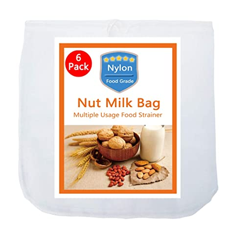Amazon.com: Bolsa de leche para frutos secos, 12 x 12 ...