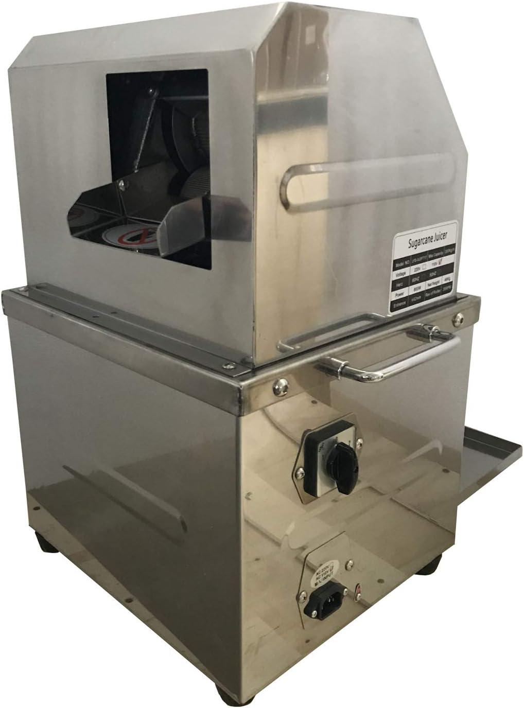 INTBUYING 110v Desktop Electric Sugar Cane Ginger Sweet Sorghum Masticating Juicer Press Juicer with 304 Stainless Steel Rollers