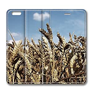 iPhone 6 4.7inch Leather Case, Wheat Field Personalized Protective Slim Fit Skin Cover For Iphone 6 [Stand Feature] Flip Case Cover for New iPhone 6