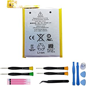 JIE Replacement Battery 616-0619 616-0621 for Apple iPod Touch 5 5th Generation gen A1421 -Tools Included