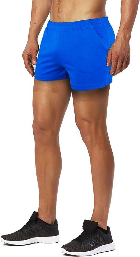 Muscle Alive Herren Sport Running 1 Elite Teilt Laufen Kurze Hose mit Seite Mesh Panel Schnell Trocken Shorts