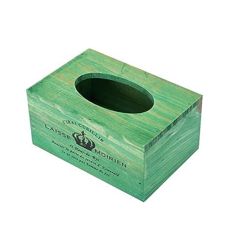 Chytaii Caja para Toalla de Papel Caja de Pañuelos Madera Rectangular Hotel Restaurante Hogar