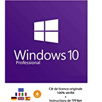 Windows 10 Pro 32 Bits & 64 Bits - Clé de Licence Originale par Postale et E-Mail + Instructions de TPFNet® - Livraison Maximum 60min