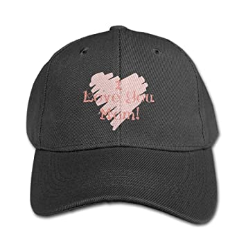 Image Unavailable. Image not available for. Color  Kids Girls Boys I Love  You Mom Mama Love Peaked Pure Baseball Cap Outdoor Sports 7b76fde48232