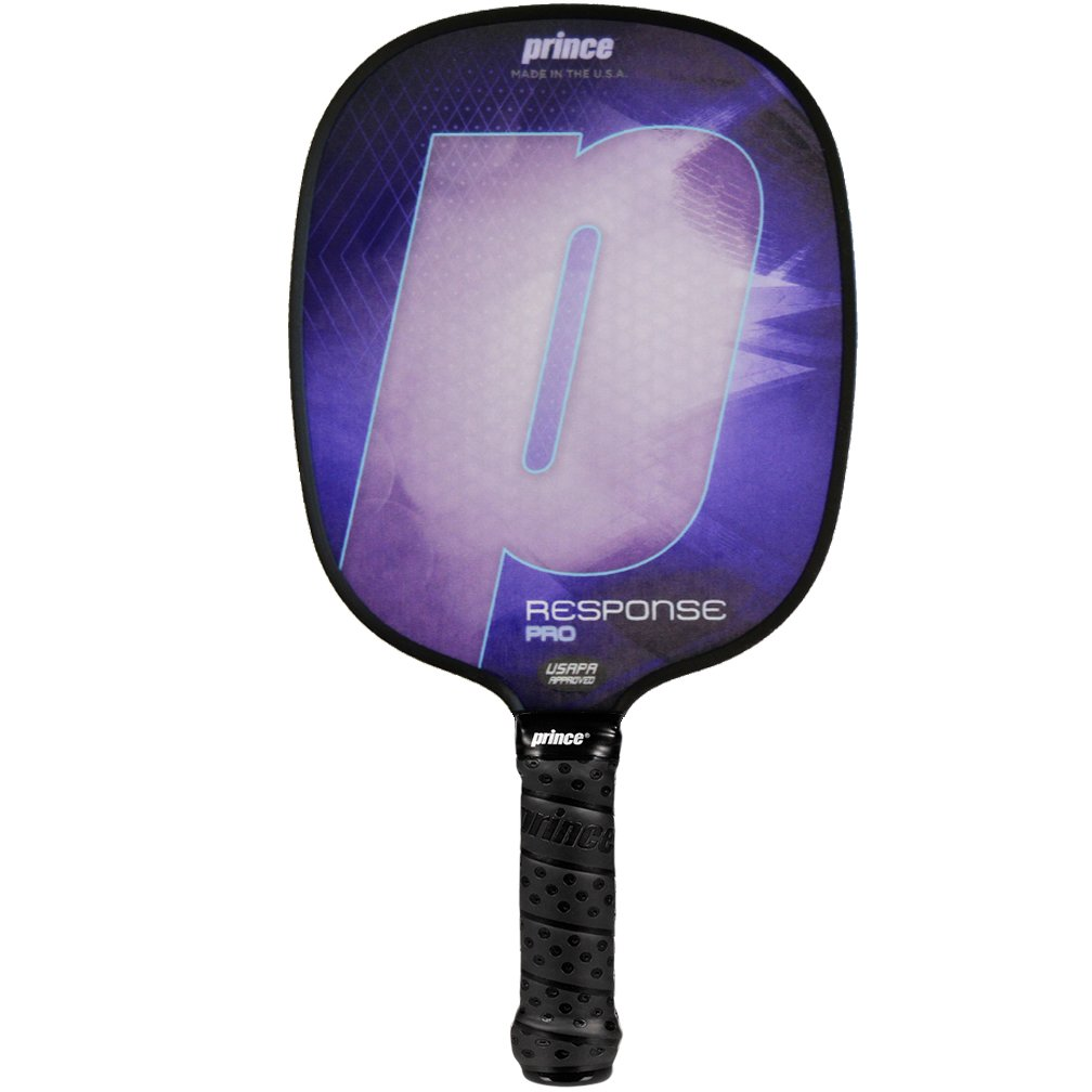 Prince Response Pro Pickleball Paddle | Purple | 4 3/8'' Large Grip | Light Weight
