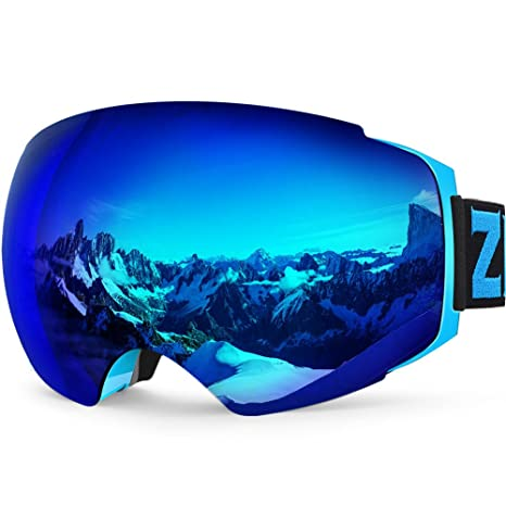 ZIONOR X4 Ski Snowboard Snow Goggles Magnet Dual Layers Lens UV Spherical  @NEW