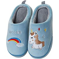 Rojeam Zapatillas de Casa de Peluche para Niños Niñas Pantuflas Antideslizante de Invierno Zapatillas de Esta por Casa…