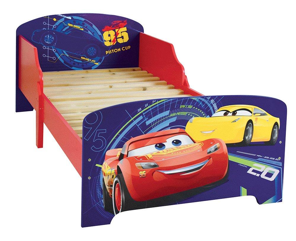 FUN HOUSE 712761 - Letto per bambini, motivo: Cars, in MDF, 140 x 70 x 59 cm CIJEP