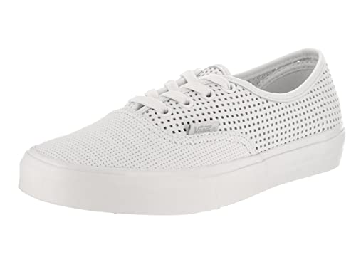 Vans Unisex Authentic Dx (Square Perf) Blanc De Bl Skate Shoe 4.5 Men US 588791324