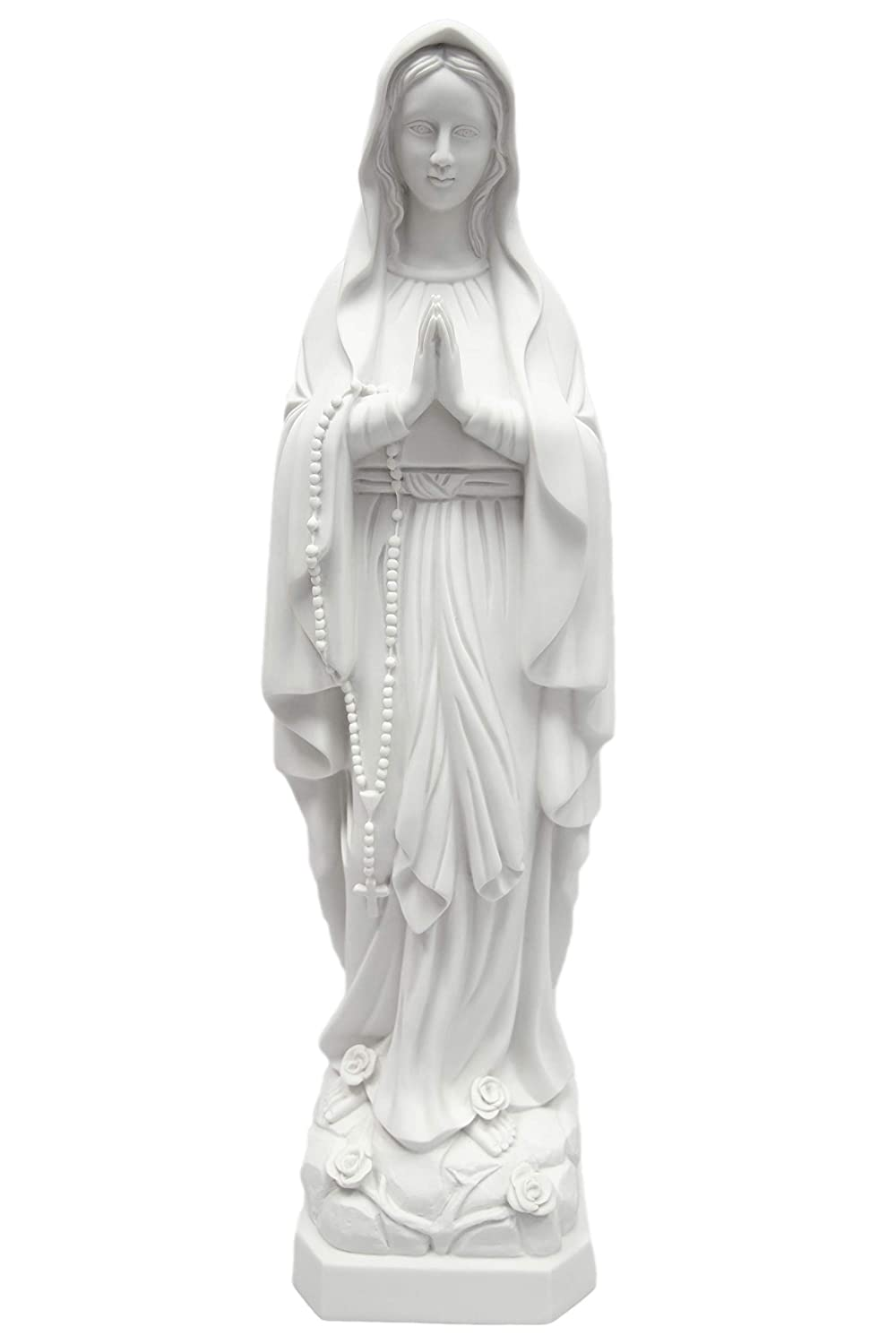 """27"""" Our Lady of Lourdes Blessed Virgin Mary Catholic Statue Sculpture Figure Vittoria Collection Made in Italy"""