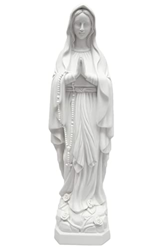 27 Our Lady of Lourdes Blessed Virgin Mary Catholic Statue Sculpture Figure Vittoria Collection Made in Italy