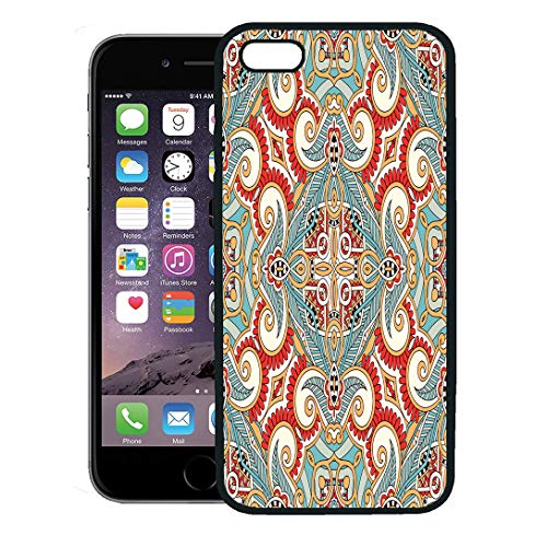 - Semtomn Phone Case for iPhone 8 Plus case,Traditional Ornamental Floral Paisley Bandanna You This Pattern in The of Carpet Shawl iPhone 7 Plus case Cover,Black