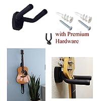 Vogholic Guitar Hanger Hook Holder Wall Mount Display - Fits All Size Guitars, Bass, Mandolin, Banjo, etc.
