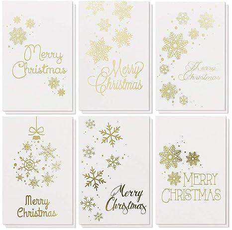 Amazon.com: Juego de tarjetas de felicitación de Navidad ...