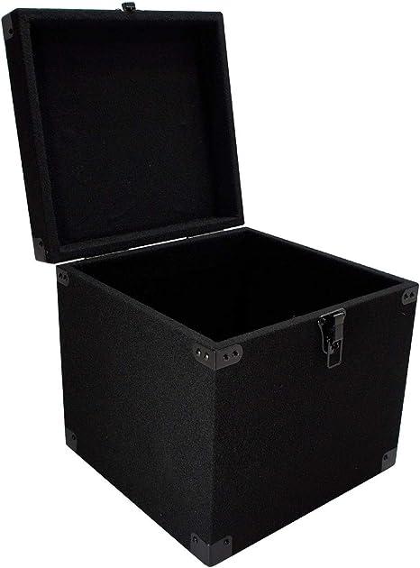 Durable DJ - Caja de madera con tapa extraíble para discos de ...