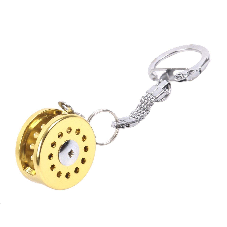 Maxcatch Metal Fishing Reel Keychain Miniature Fishing Gift