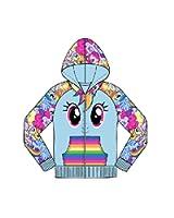 My Little Pony Allover Ponies Remix 4-6x Little Girls Zip up Hoodie