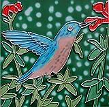 4 x 4 inch hummingbird ceramic