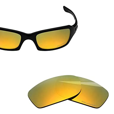 4344c2f8bc BlazerBuck Anti-salt Polarized Replacement Lenses for Oakley Fives Squared  - 24K Gold
