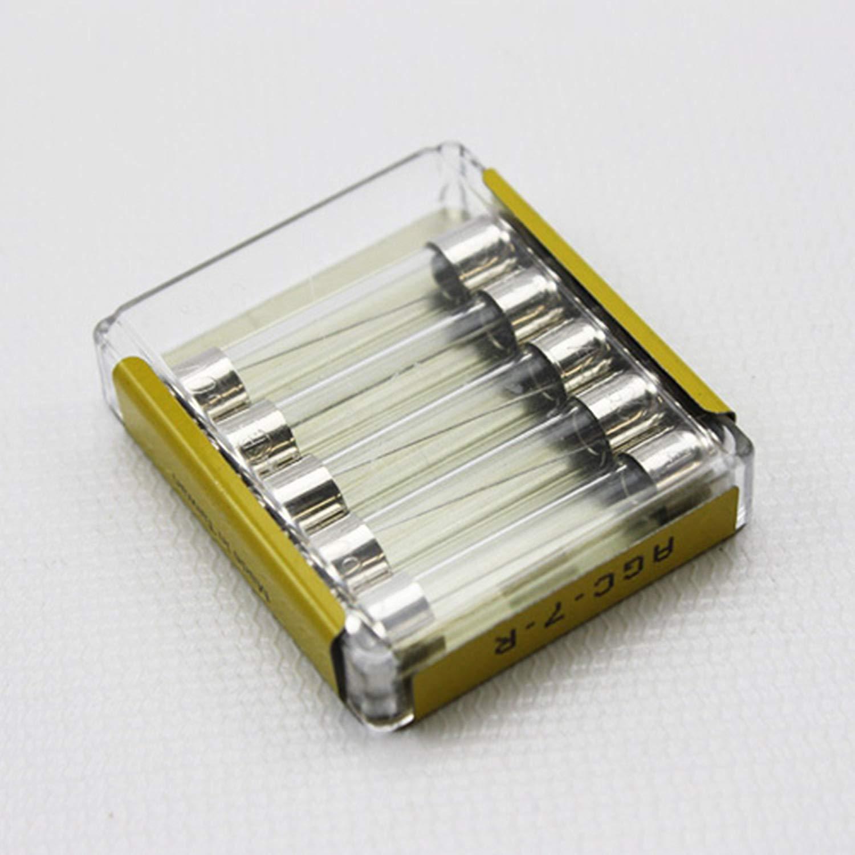 "AGC7 Fast Acting Glass Tube Fuse 7 Amp  1//4/"" x 1-1 10pcs"