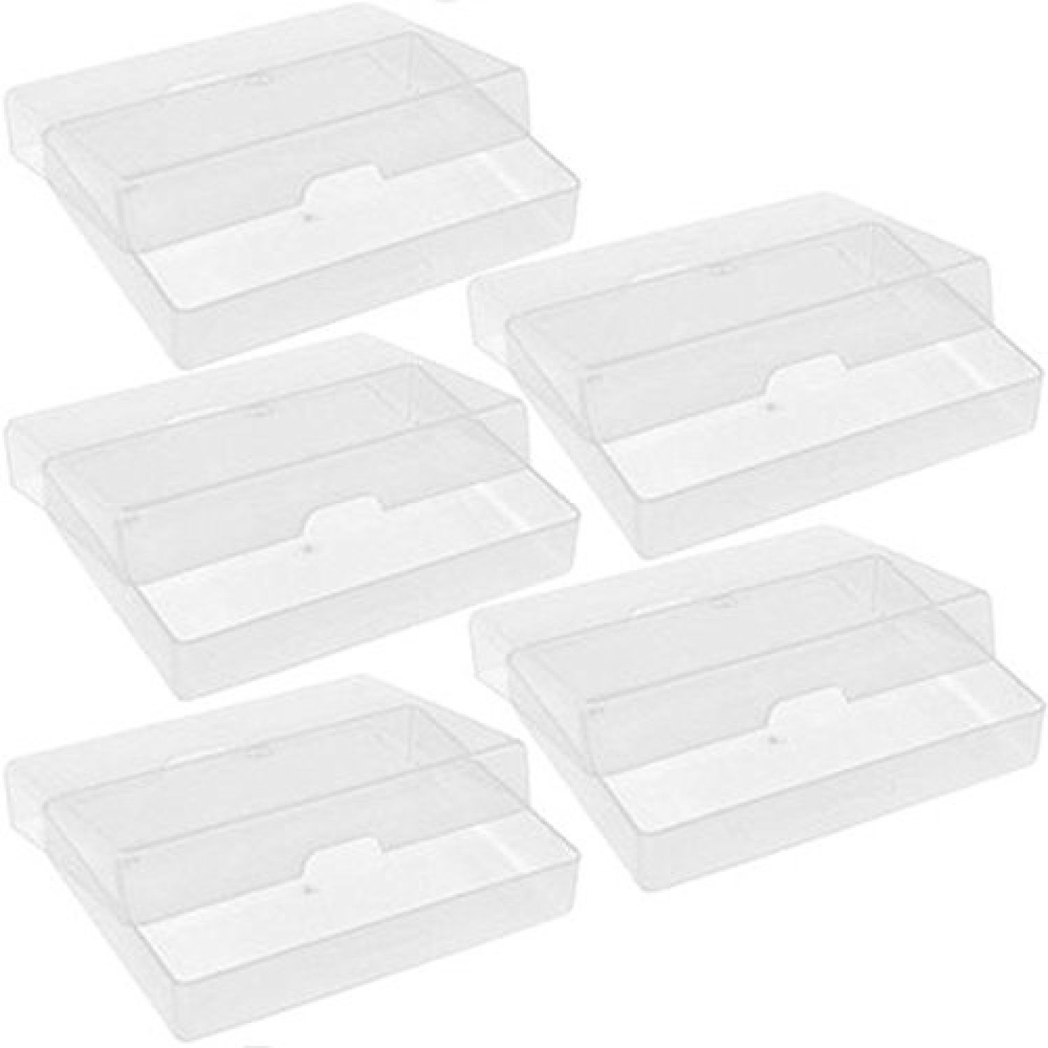 5 X NEW ATC CLEAR PLASTIC STORAGE BOX PLAYING CARDS CASE BUSINESS ...